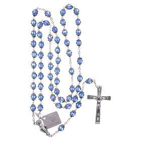 Rosario Medjugorje grani cristallo blu s4