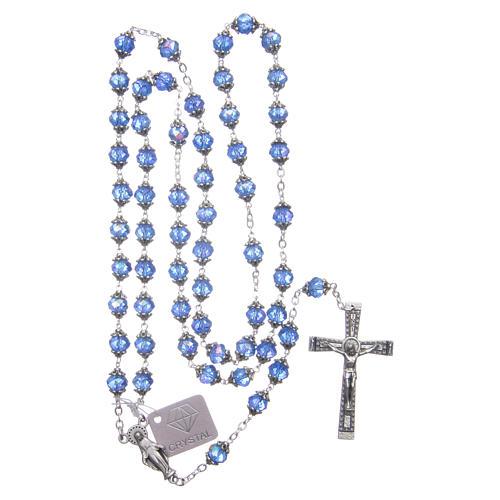 Rosario Medjugorje grani cristallo blu 4