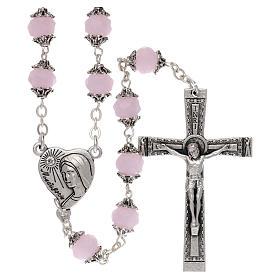 Chapelets et boîte chapelets: Chapelet Medjugorje grains cristal rose