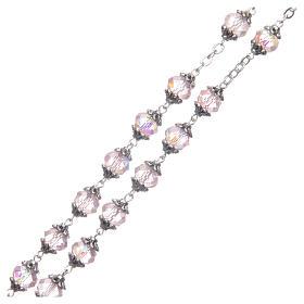 Rosario Medjugorje grani cristallo rosa s3