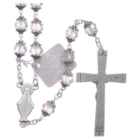 Medjugorje rosary with transparent crystal grains s2