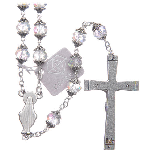 Medjugorje rosary with transparent crystal grains 2