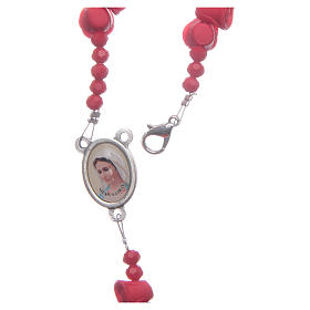 Medjugorje rosary with red roses resurrected Jesus s4