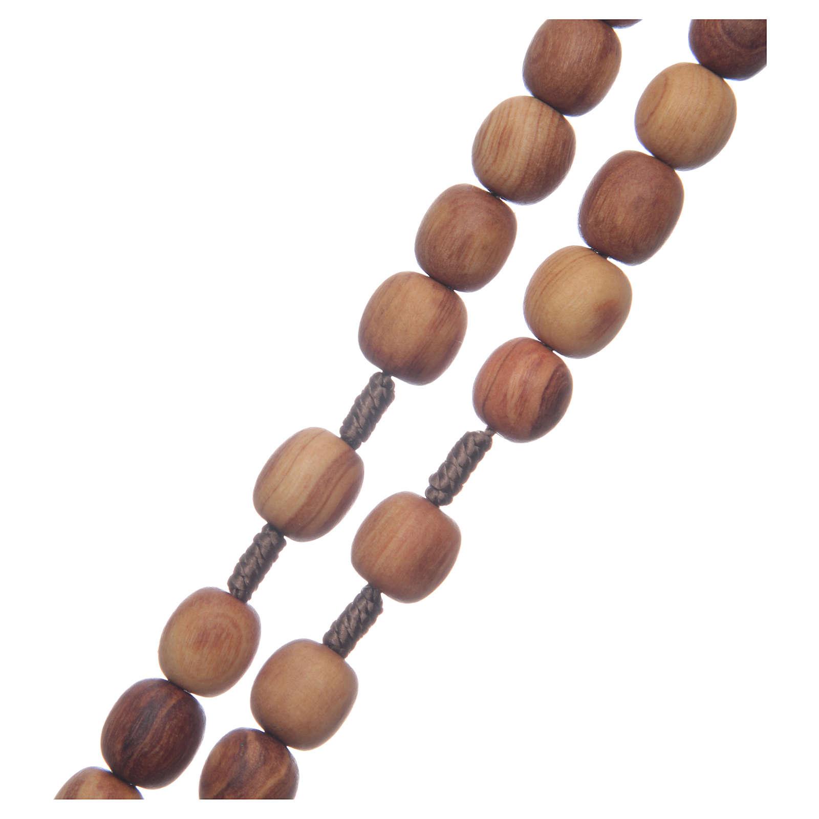 Rosario ulivo Medjugorje 10 mm corda crociera ulivo 4