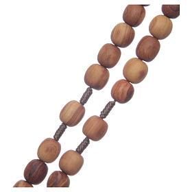 Rosario ulivo Medjugorje 10 mm corda crociera ulivo s3