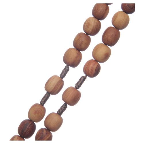 Rosario ulivo Medjugorje 10 mm corda crociera ulivo 3