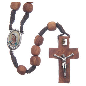 Rosaries and rosary holders: Medjugorje rosary with olive wood 8 mm cord