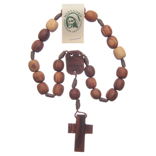 Medjugorje peace rosary beads in olive wood 2