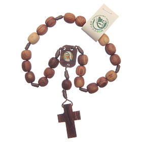 Medjugorje peace rosary beads in olive wood s1