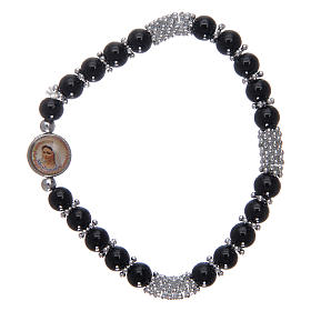 Rosary bracelet in black crystal with spring s1