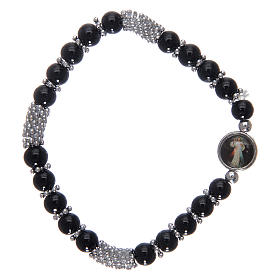 Rosary bracelet in black crystal with spring s2