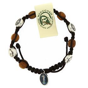 Pulsera de olivo con pequeña medalla milagrosa s2