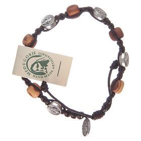 Bracelet en olivier avec médaille miraculeuse s1