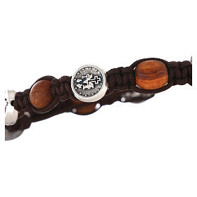 Bracelet en olivier avec médaille miraculeuse s3