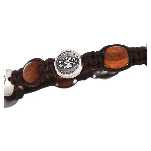 Bracelet en olivier avec médaille miraculeuse 3