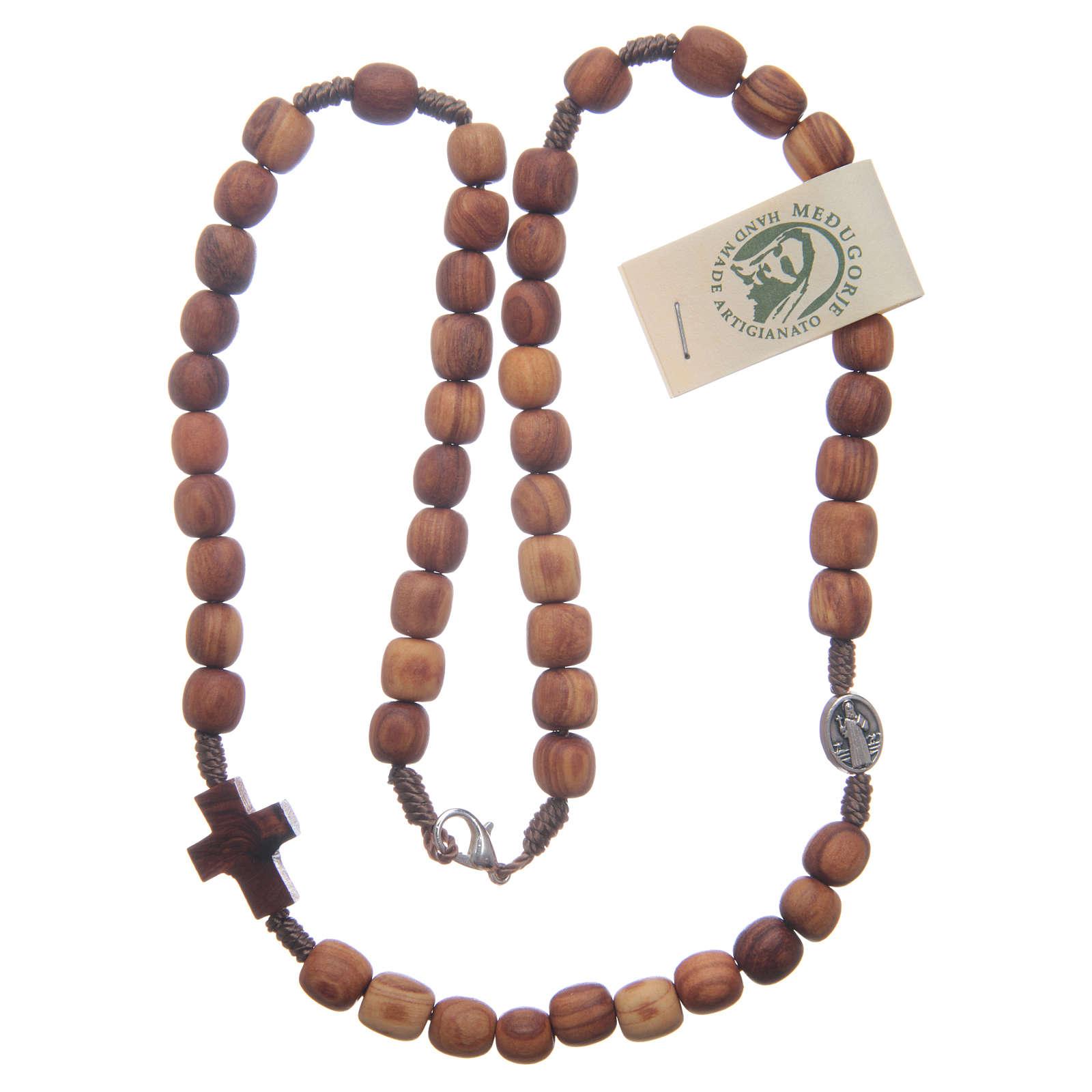 Rosenkranzkette aus Medjugorje, Perlen aus Olivenholz 4