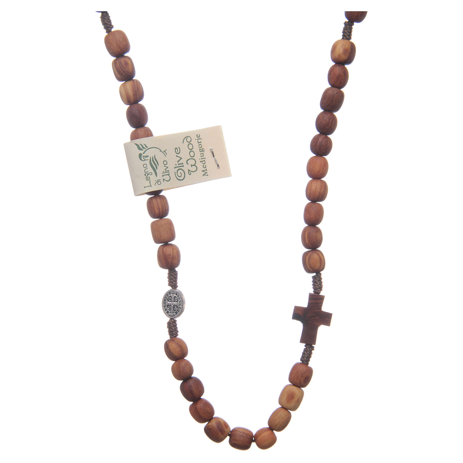 Rosary choker in olive wood 4