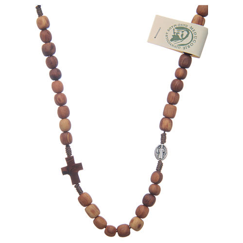 Rosary choker in olive wood 1