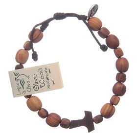 Bracelet en bois d'olivier avec tau s2