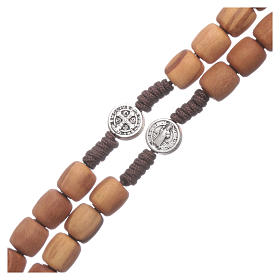 Medjugorje rosary in olive wood with crosses Saint Benedict 8 mm s3