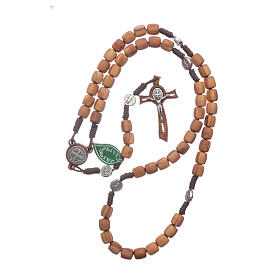 Medjugorje rosary in olive wood with crosses Saint Benedict 8 mm s4