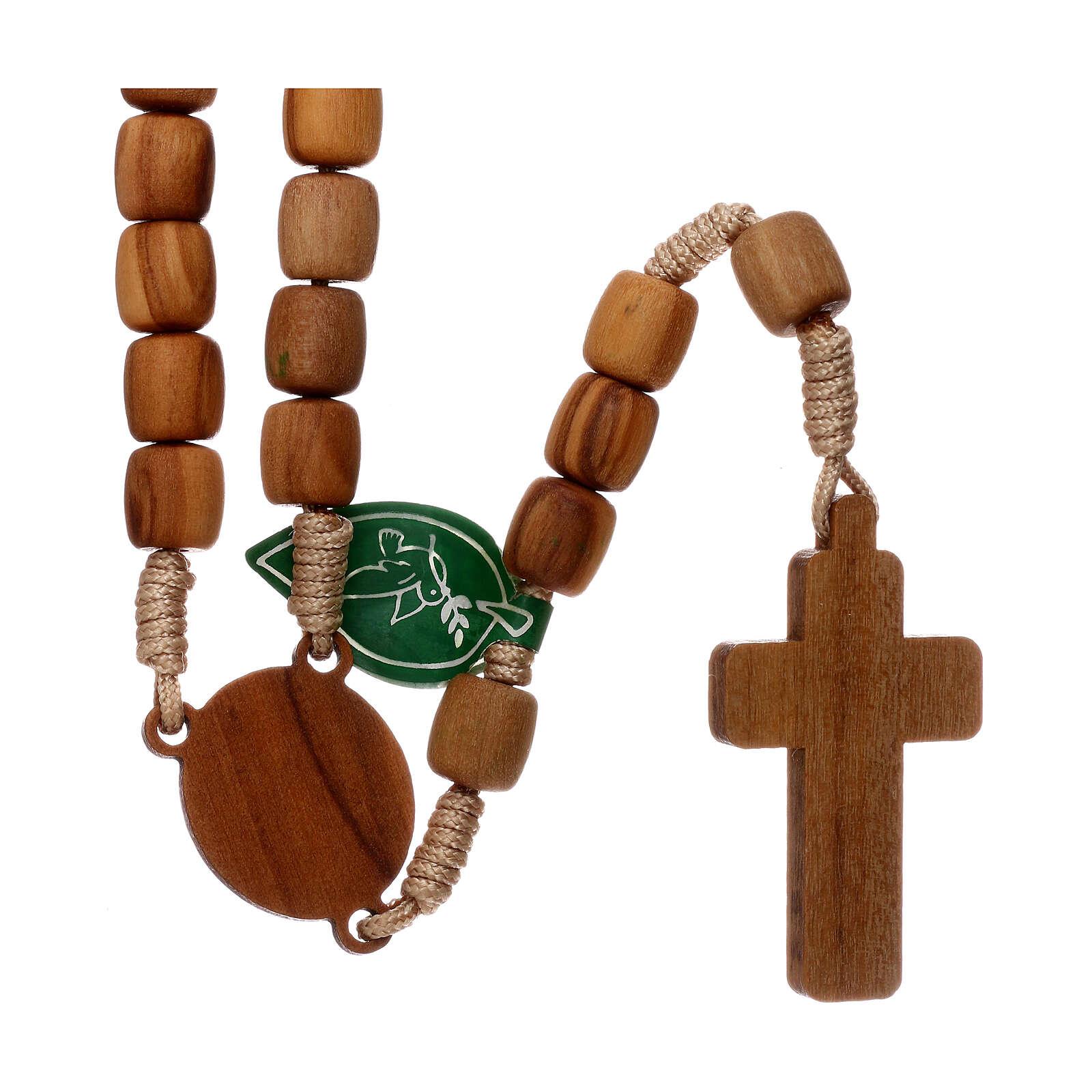 Medjugorje rosary in olive wood 8 mm 4