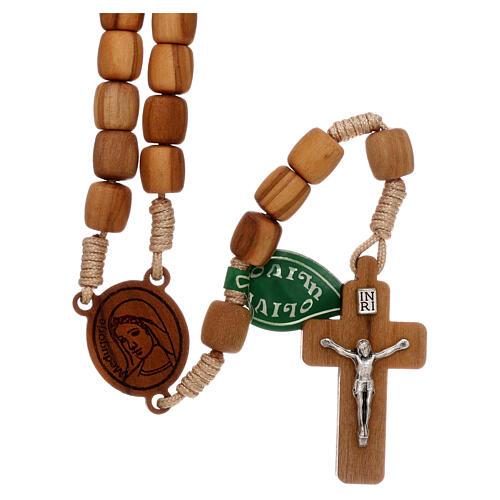 Medjugorje rosary in olive wood 8 mm 1