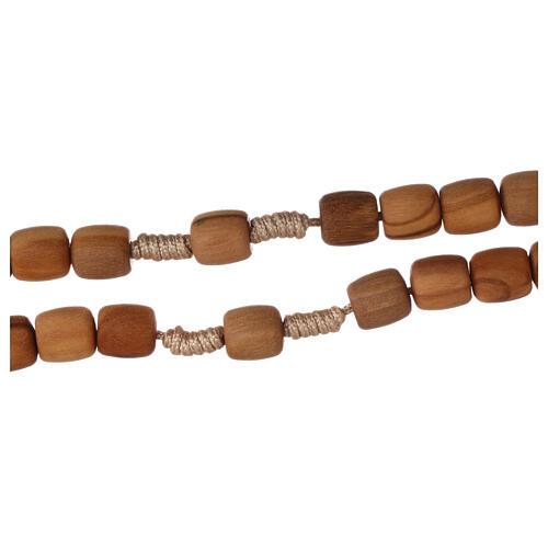 Medjugorje rosary in olive wood 8 mm 3