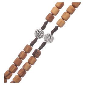 Medjugorje rosary in olive wood Saint Benedict 8 mm s3