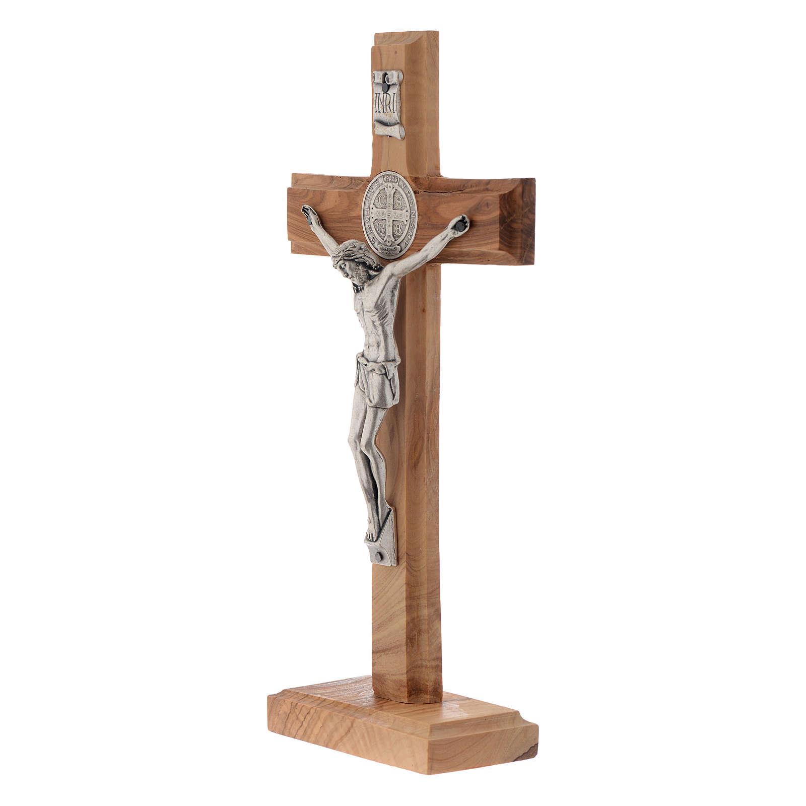 Crocifisso da tavolo Medjugorje ulivo h 21 cm 4