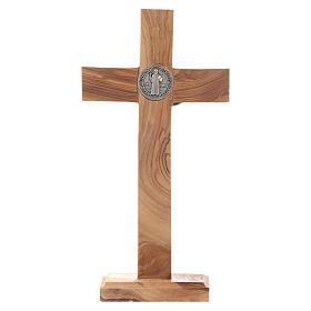 Crocifisso da tavolo Medjugorje ulivo h 21 cm s3