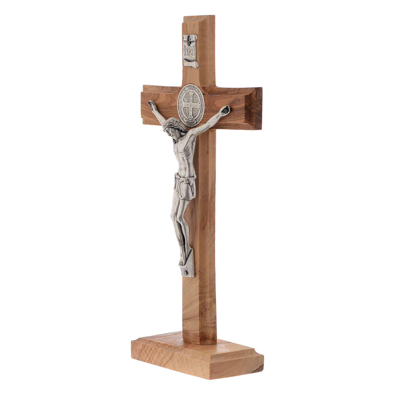 Medjugorje table crucifix in olive wood 21 cm 4