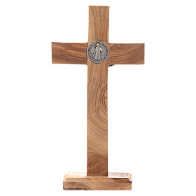 Medjugorje table crucifix in olive wood 21 cm s3