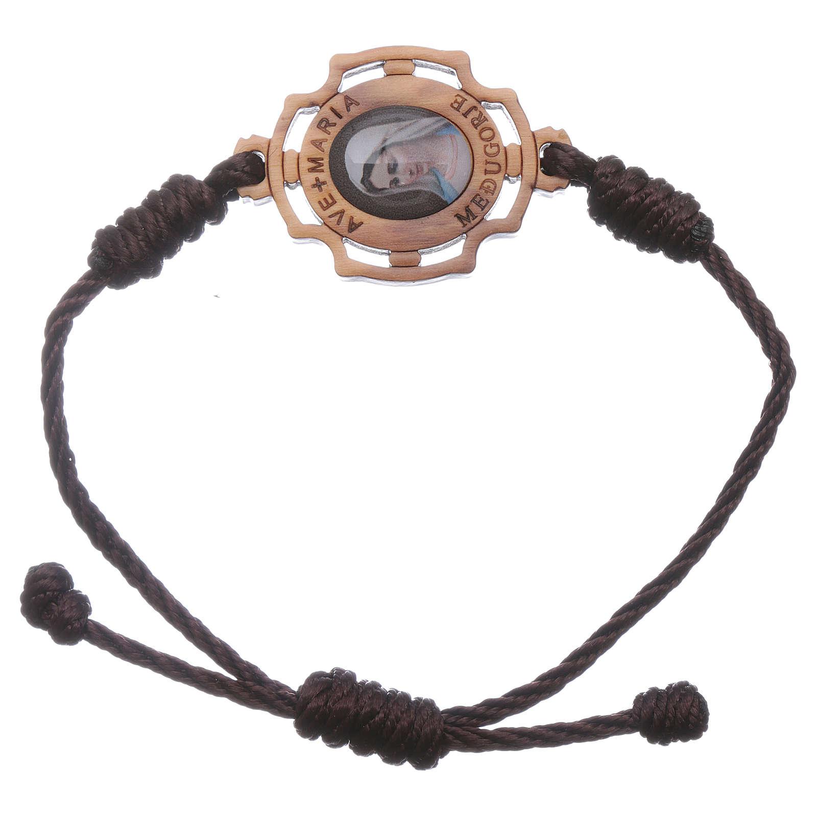 Bracelet Medjugorje corde image Gospa 4