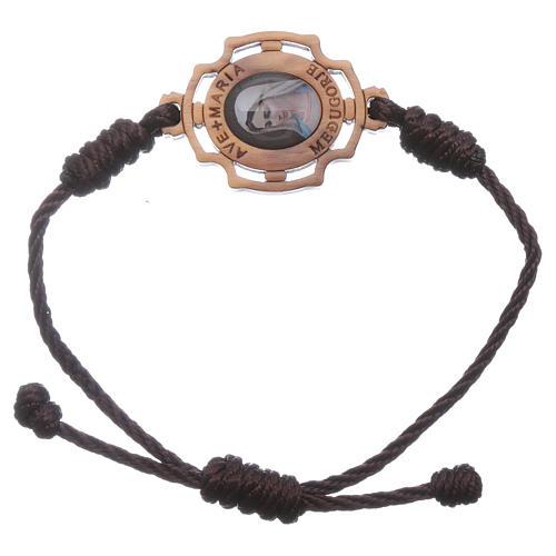 Bracelet Medjugorje corde image Gospa 1