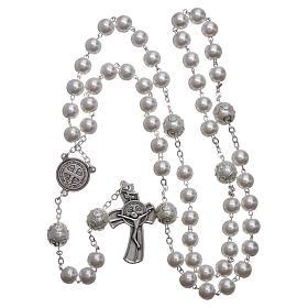 Rosario símil perla Medjugorje San Benito 8 mm s4