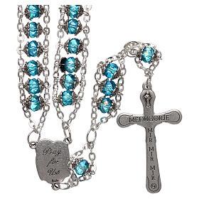 Rosario Medjugorje cristal doble cadena azul s2