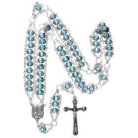 Rosario Medjugorje cristal doble cadena azul s4