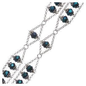 Rosario Medjugorje cristallo doppia catena blu s3