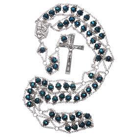 Rosario Medjugorje cristallo doppia catena blu s4