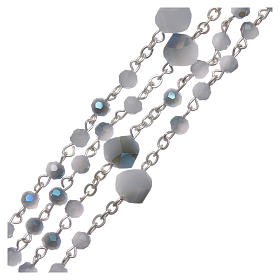 Coroncina Medjugorje cristallo azzurro bianco 4 mm s3