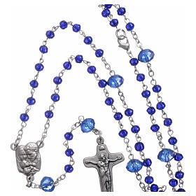 Rosenkranz aus Medjugorje, Perlen aus dunkelblauen Kristallen, 4 mm s4