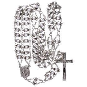Rosario Medjugorje doppia catena cristallo trasparente s4