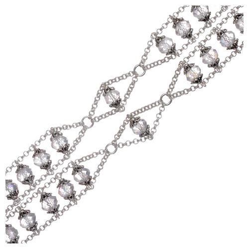 Rosario Medjugorje doppia catena cristallo trasparente 3