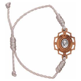 Bracelets, dizainiers: Bracelet Medjugorje image Gospa corde blanche