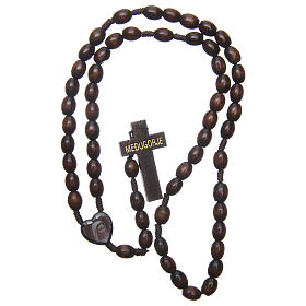 Medjugorje wooden rosary with black grains s4