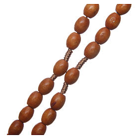 Medjugorje wooden rosary with natural grains s3