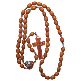 Medjugorje wooden rosary with natural grains s4