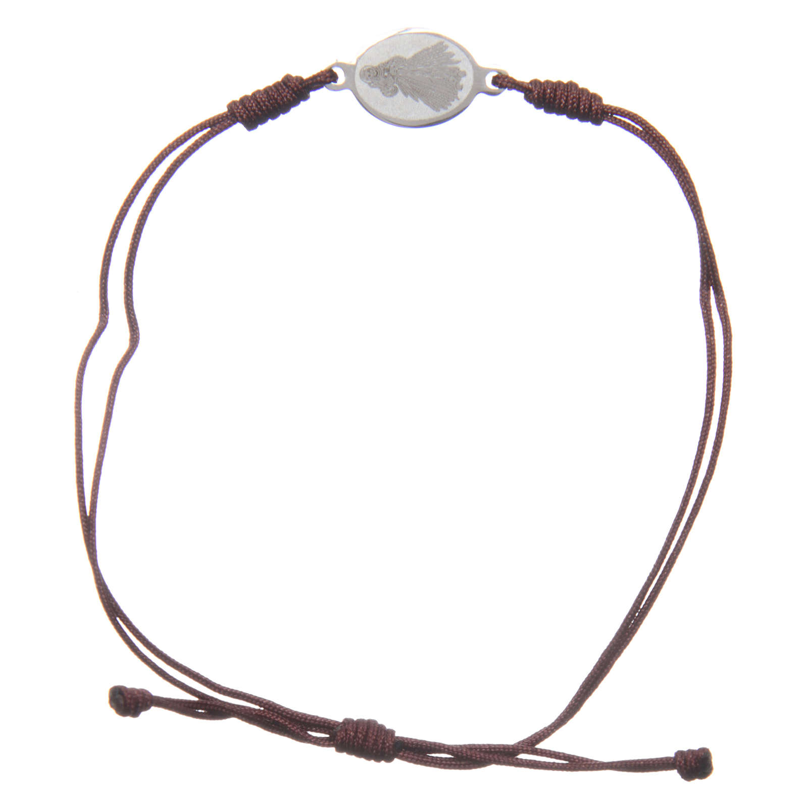 Medjugorje bracelet with brown rope and medalet 4