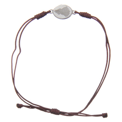 Medjugorje bracelet with brown rope and medalet 2